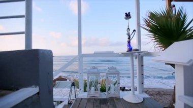 La costa di Spalato, in Croazia. Vista dalla terrazza dell\'hotel ...