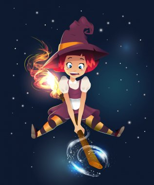 Illustration of a Halloween Witch