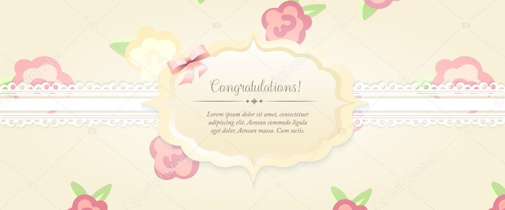 Beautiful flower patterned background shabby chic wedding beautiful flower patterned background shabby chic wedding invitation vector illustration floral save stopboris Image collections