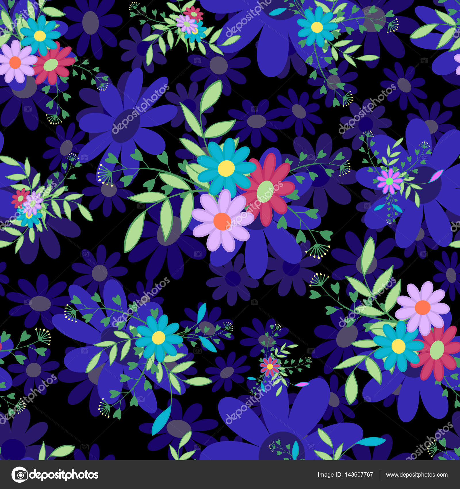 Seamless Pattern For Spring And Summer Floral Vector IllustrationSuitable Country Design Sitecards Wallpaper Paper By Lyubovya