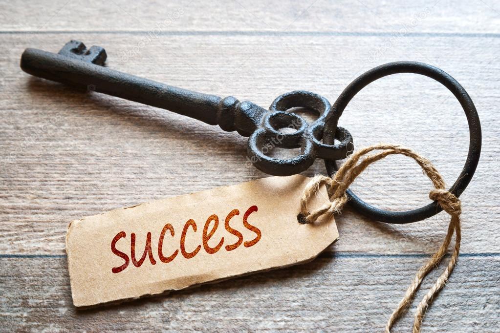 成功のコンセプト写真への鍵。木...
