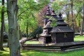 Dřevěný kostel svatého Mikuláše, historické město Hradec Králové, Česká republika