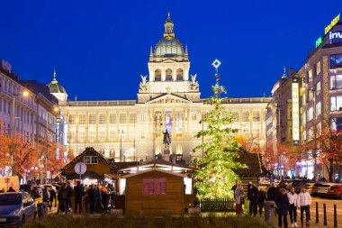 christmas market, Wenceslas square, Old Town, Prague, Czech Republic