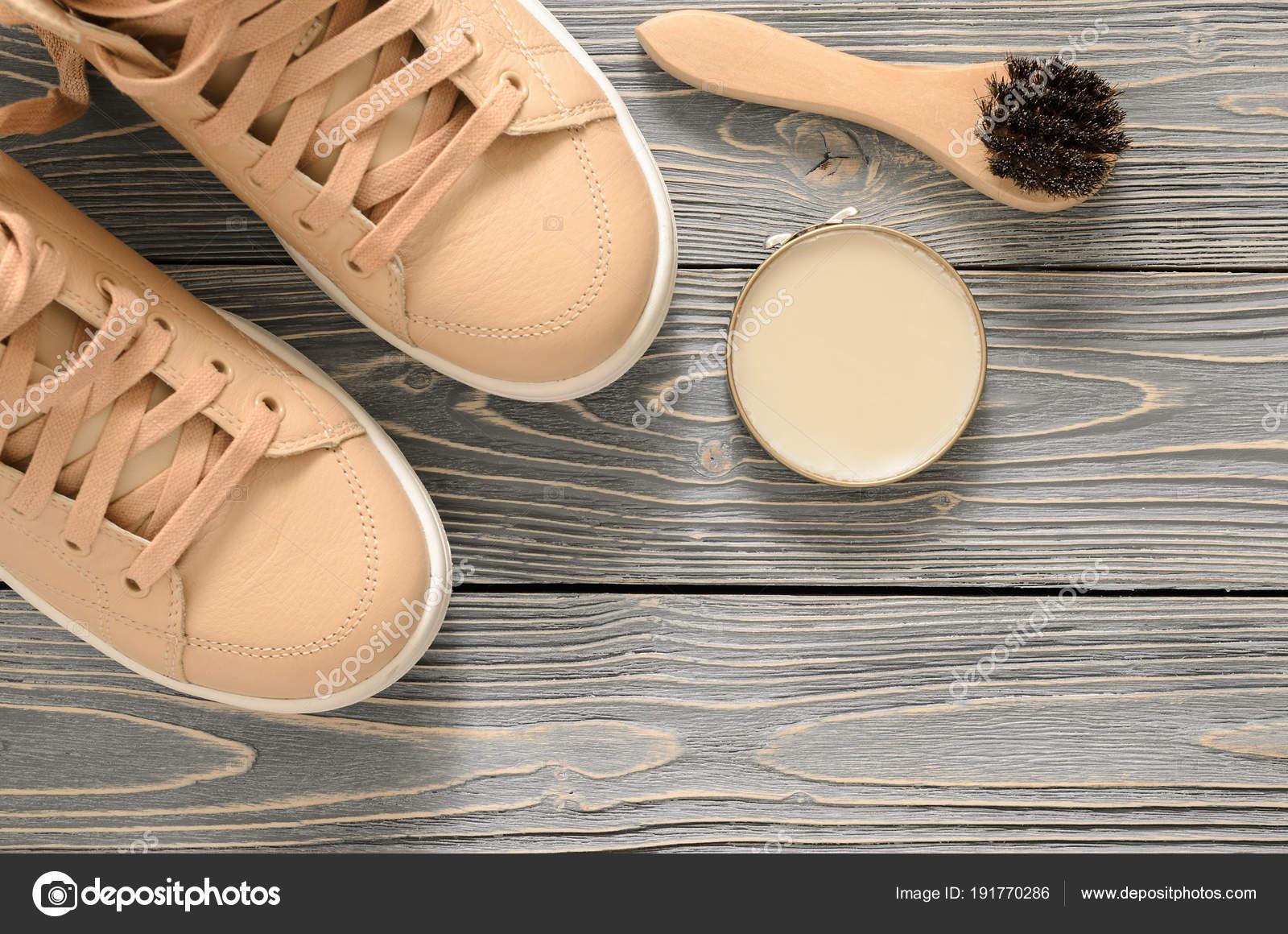 Chaussure Care Kit cr猫me brosse en crin chamois锛?cire vernis cr猫me Kit neutre b3f422