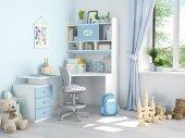dětský pokoj. 3D vykreslování