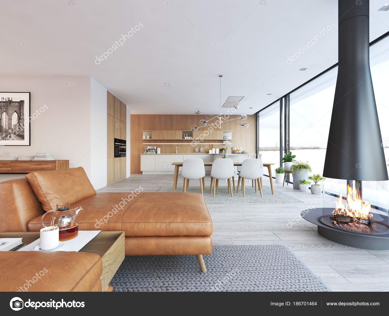 Moderne loft wohnung. 3d rendering u2014 stockfoto © 2mmedia #186701464
