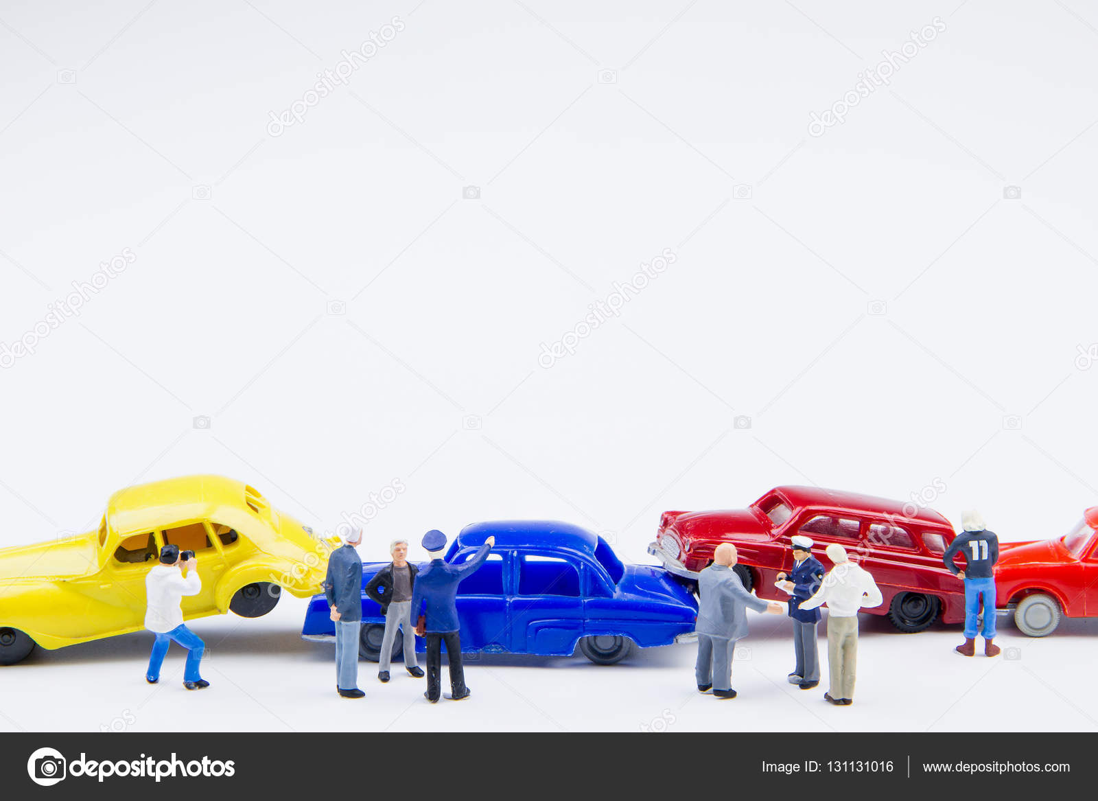 Miniature Tiny Toys Car Crash Accident Damaged Accident On The R