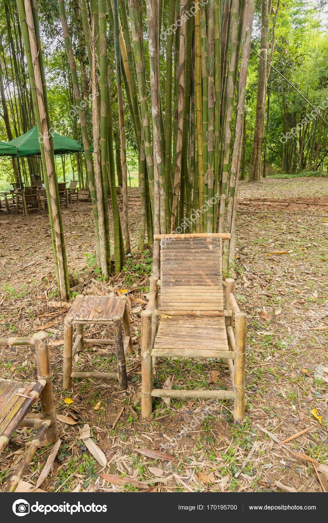bambus im garten, bambus-tisch und stühle im garten — stockfoto © bubbers #170195700, Design ideen