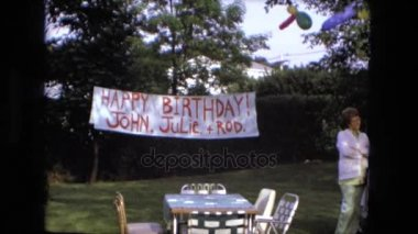 a birthday cake is seen