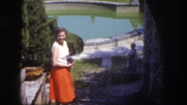 Two women in huge garden