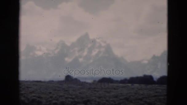 Pohled na krajinu horského hřebene