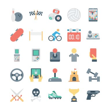 Sports and Games Colored Vector Icons 4