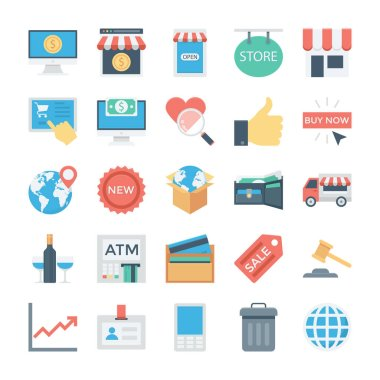 Shopping and ECommerce Colored Vector Icons 5