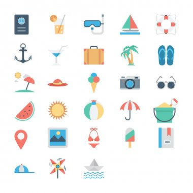 The summer is not over yet Celebrate this endless summer with this Summer and Holidays Vector Icons Pack. icon