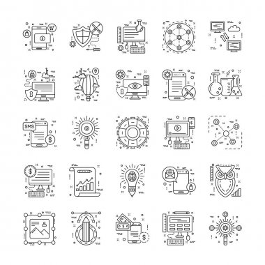 Line Icons With Detail 1