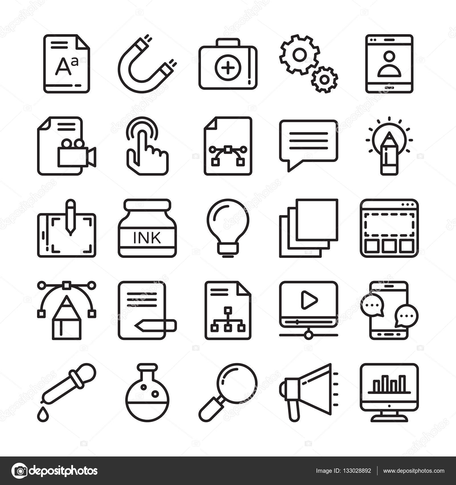 web design and development vector icons 2 stock vector ID Tech Summer Camps set of web design and development vector icons for your web design projects tech publications or web topics in your designs vector by creativestall