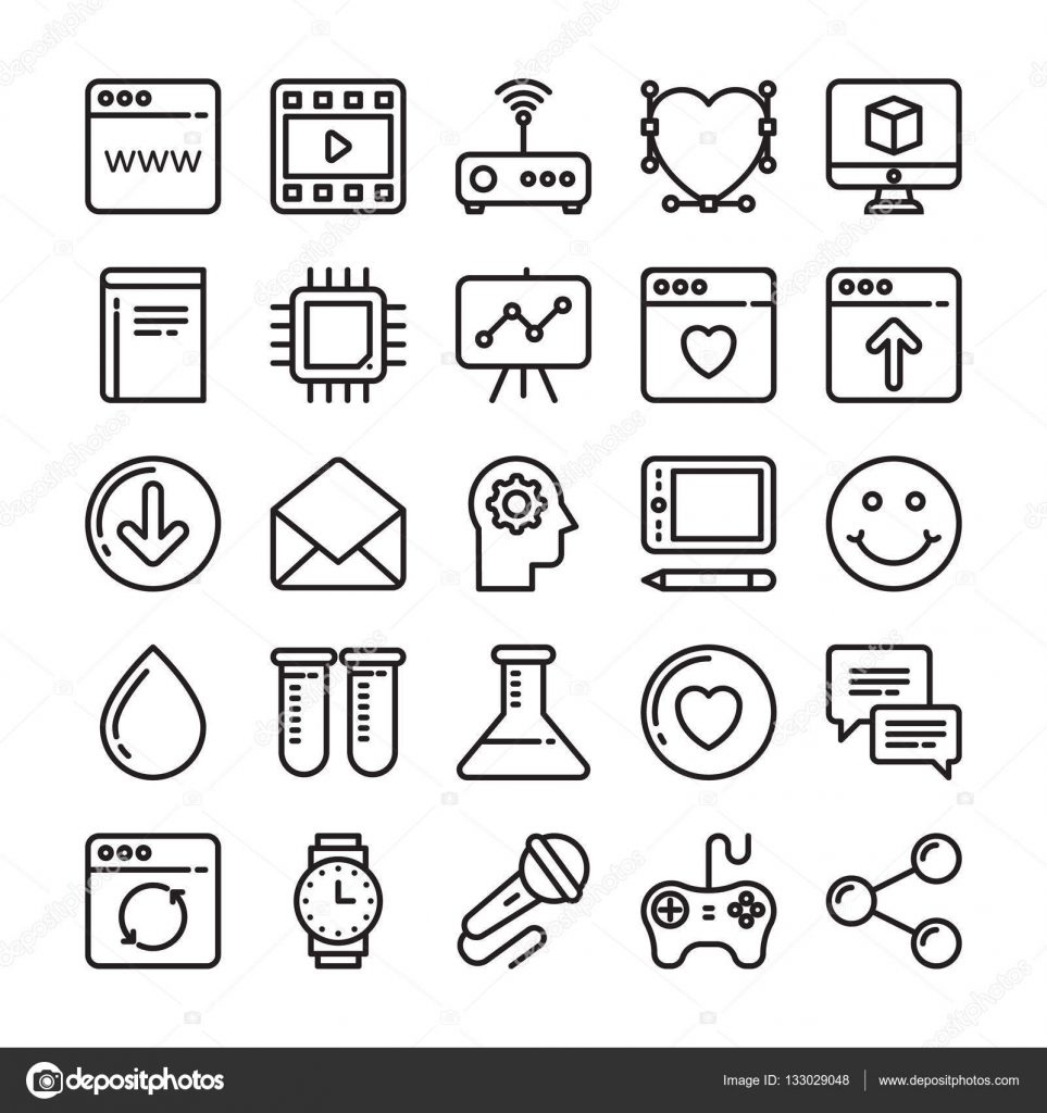 web design and development vector icons 8 stock vector OC Tech set of web design and development vector icons for your web design projects tech publications or web topics in your designs vector by creativestall