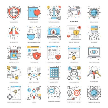 Flat Color Line Icons 9