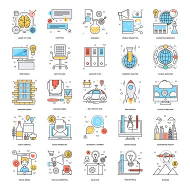 Flat Color Line Icons 11
