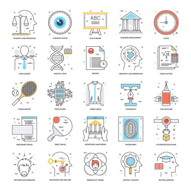 Flat Color Line Icons 20