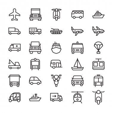 Transport Colored Vector Icons 3