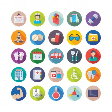 Medical and Health Colored Vector Icons 5