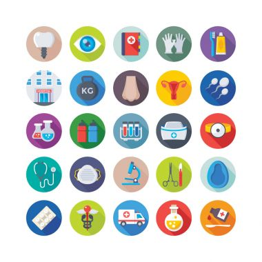 Medical and Health Colored Vector Icons 4