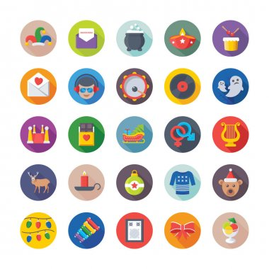 Christmas, Party and Celebrations Vector Icons 9