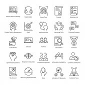 Photo Business Management and Growth Vector Line Icons 29