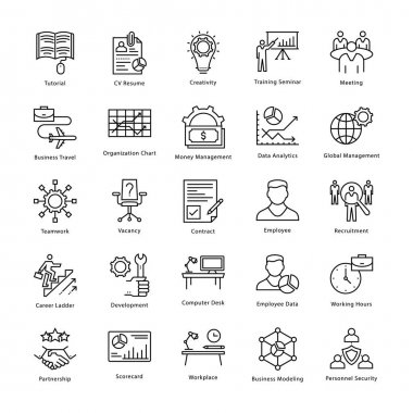 Business Management and Growth Vector Line Icons 15