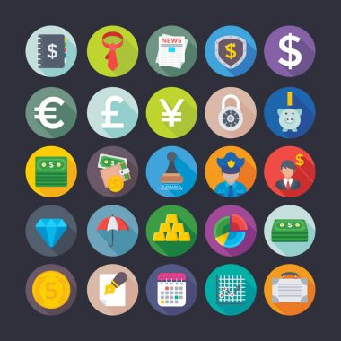 Here is a useful and trendy Banking and Finance Vector Icons pack. Hope you can find a great use for them in finance, money, banking, and statistics visuals. icon