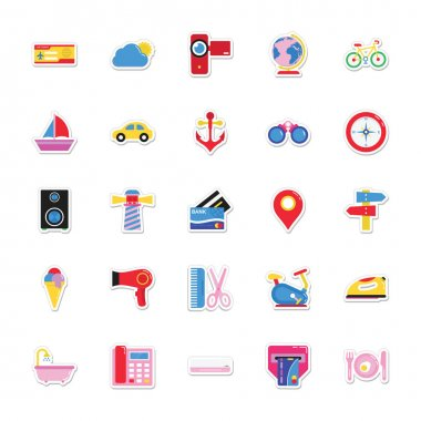 Summer and Holidays Vector Icons 6