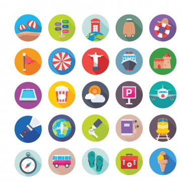Get down to the beach and seaside this summer and hop on a boat with this new Summer and travel Vector Icons Pack Included in this pack is everything you need to design your project. icon