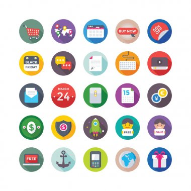 Shopping and Commerce Vector Icons 7