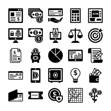 Banking and Finance Line Vector Icons 3