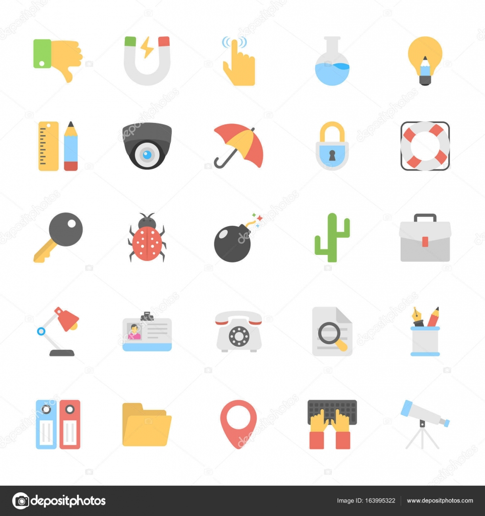 Web Design flache farbige Icons 2 — Stockvektor © creativestall ...