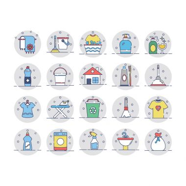 Use these Cleaning Vector Pack to make your designs spick and span. icon