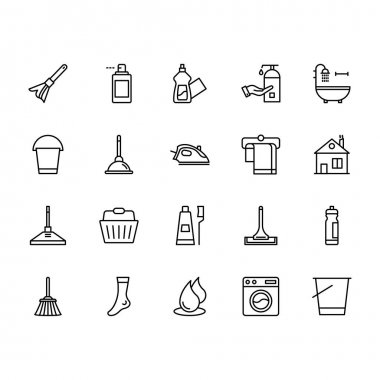 Use these Cleaning Vector Icons Pack to make your designs spick and span. icon