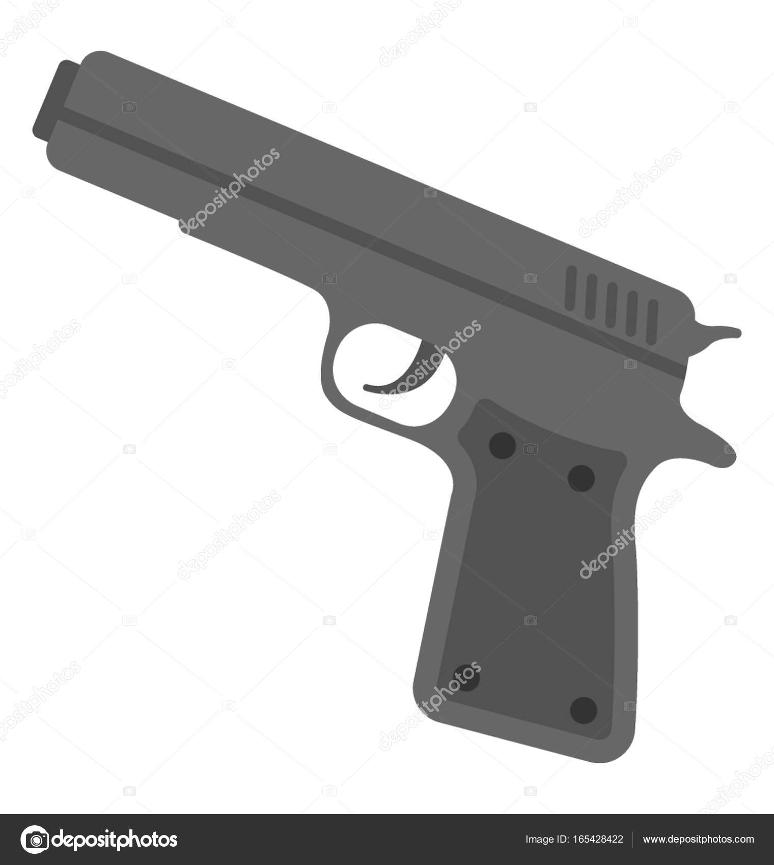 pistol vector icon stock vector c creativestall 165428422 https depositphotos com 165428422 stock illustration pistol vector icon html