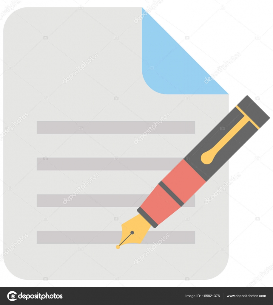 Escribir contenido Vector icono — Vector de stock © creativestall ...