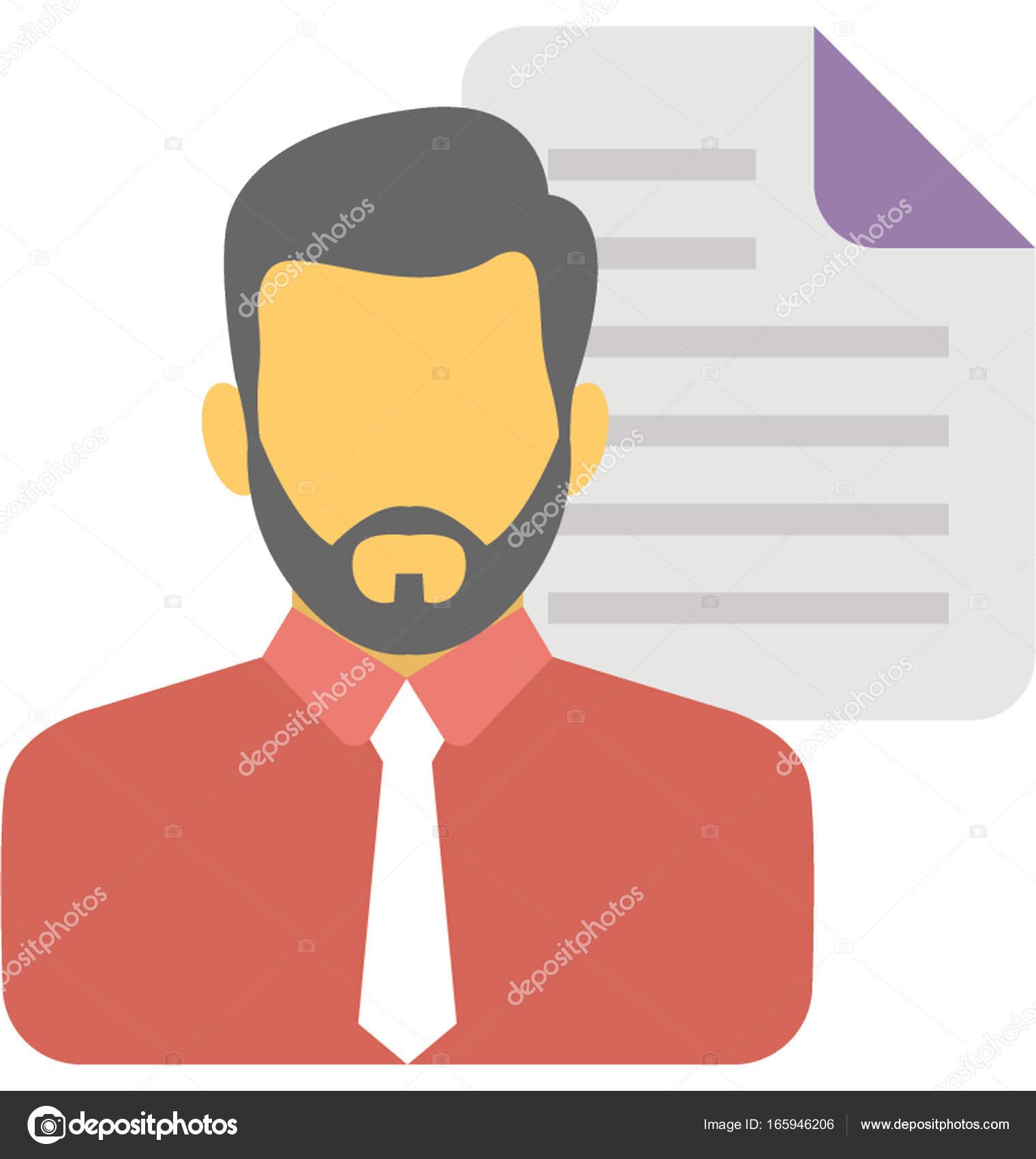 Escritor de contenido Vector icono — Archivo Imágenes Vectoriales ...