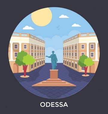 Odessa, Ukraine Vector Icon