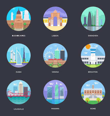 World Cities and Tourism Illustration 4