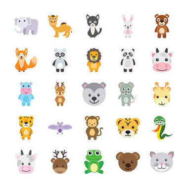 Animals Colored Vector Icons 4