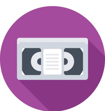 Video Cassette Vector Icon