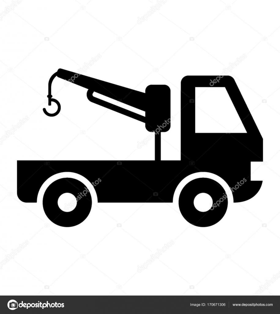 tow truck glyph vector icon stock vector creativestall 170671306 rh depositphotos com tow truck vector image tow truck vector art free