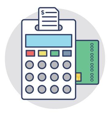 Card Terminal Vector Icon