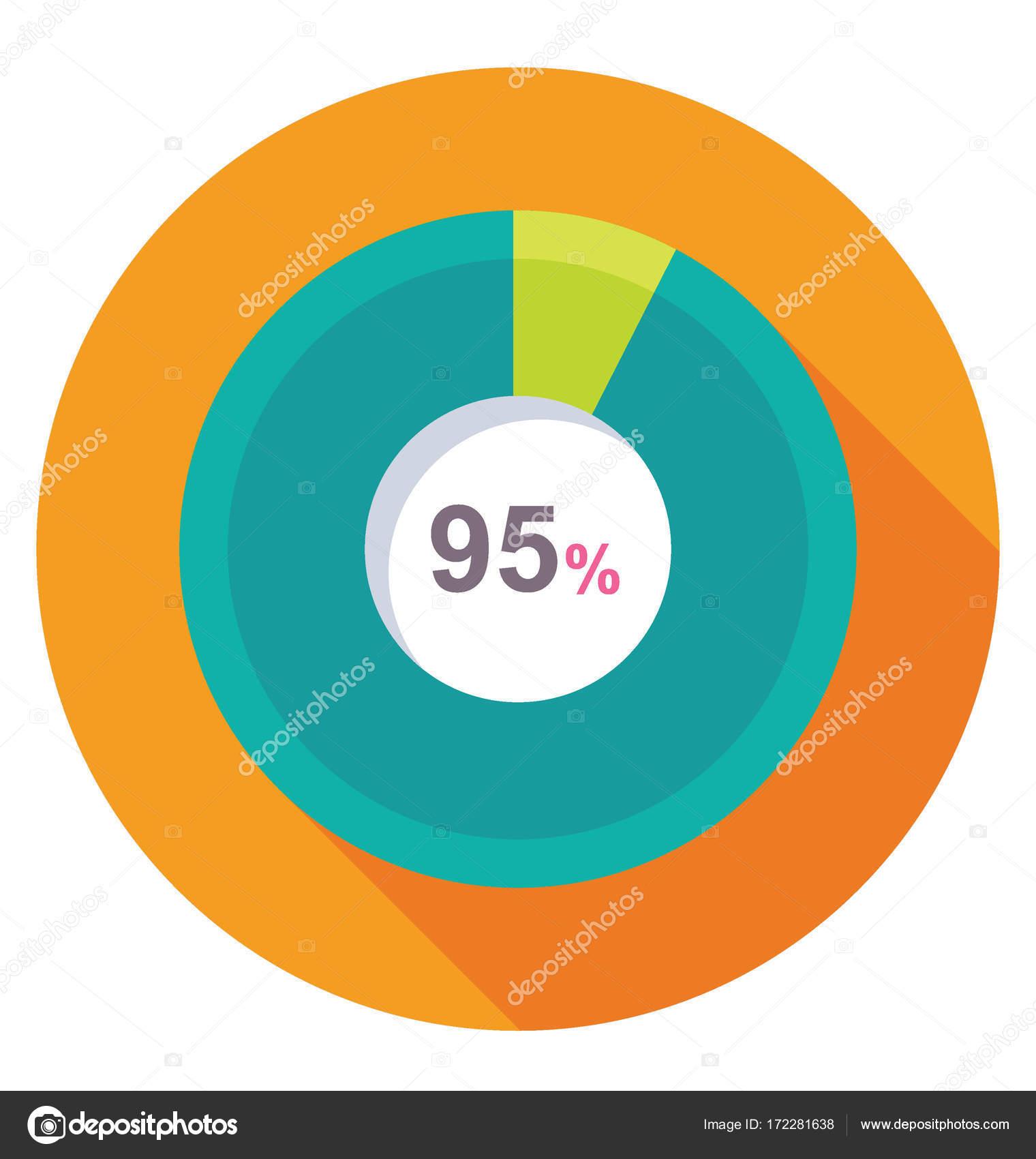 percentage graph vector icon stock vector creativestall 172281638