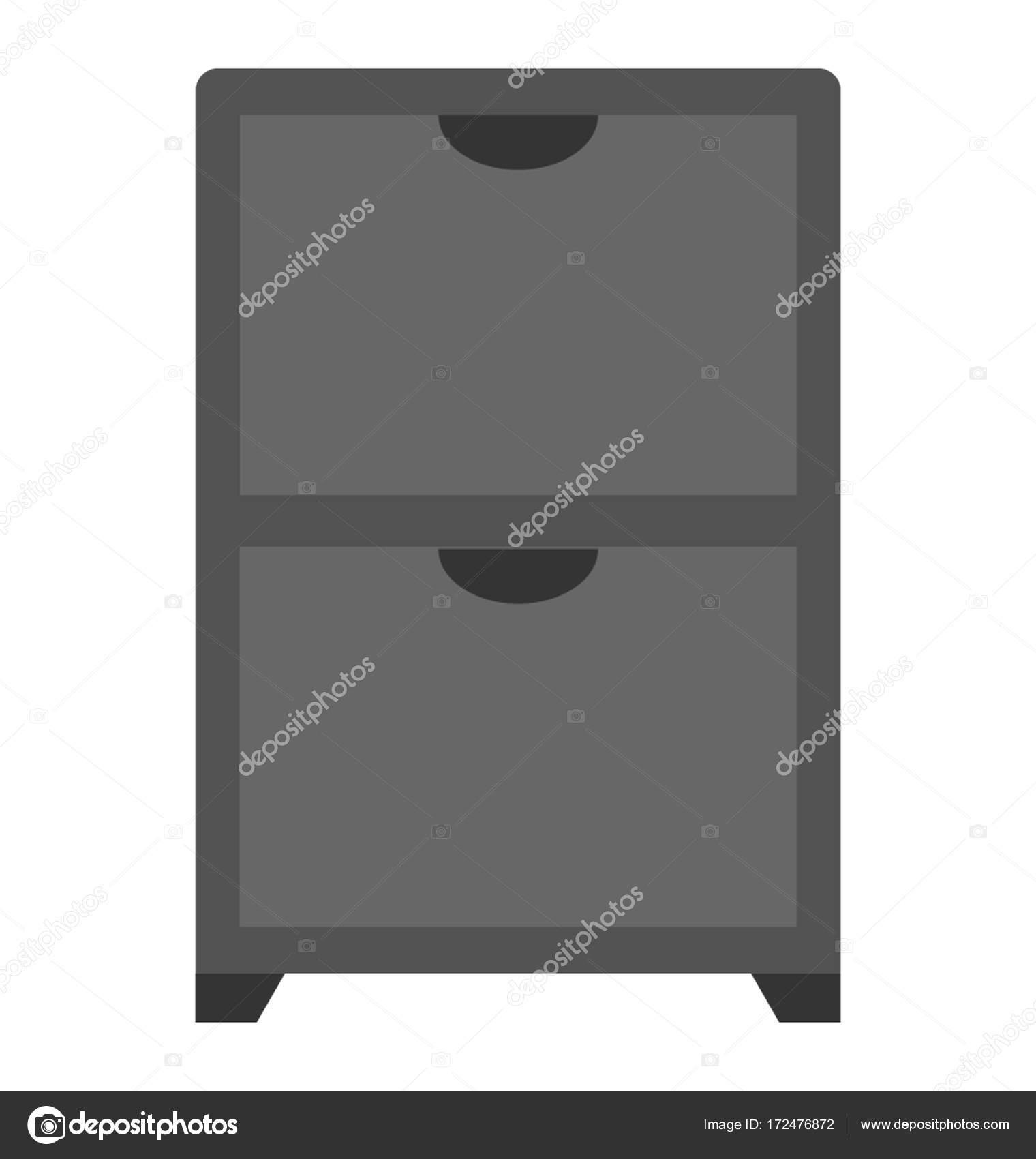 Cassettiera Con Cassetti Vettore Icona Vettoriali Stock