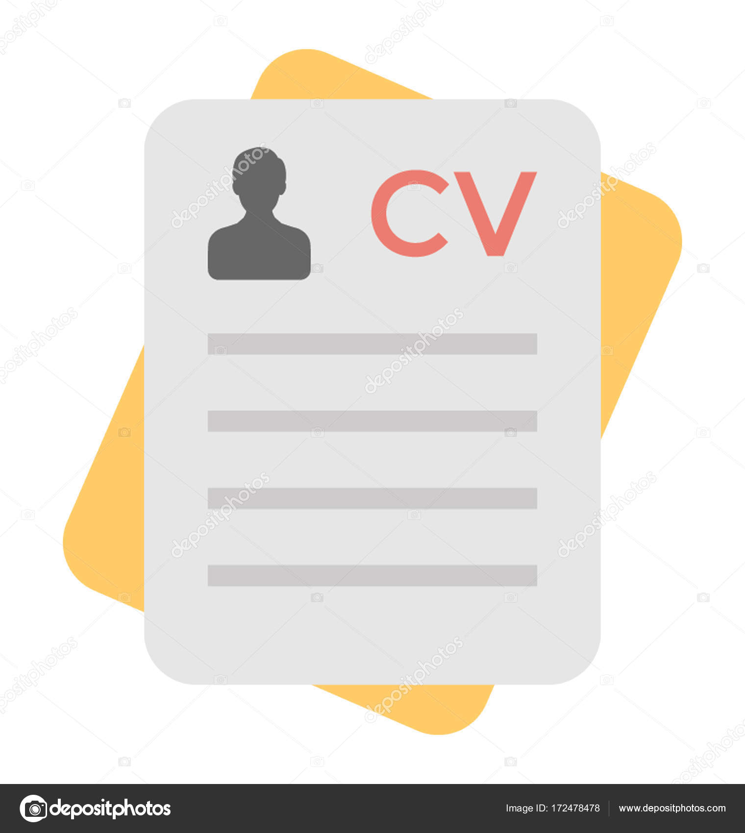 curriculum vitae colored vector icon vector by creativestall